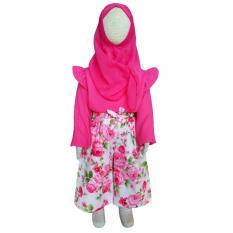 Grow Baju dan Celana Setelan Muslimah Anak Kulot Pink ( Grow Children's Clothes Suit Kulot ) Pink