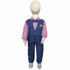 Beli Grow Baju Setelan Celana Panjang Anak Laki Laki Grow Children S Clothes Suit Kids Trousers For Boy Blue Online