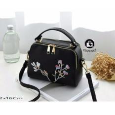 GRT Tas Wanita Sling Bag Korean Style Milano Bordier Double Zip with Tassel / Tas Selempang Korean Style