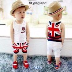 GSD-Baju Anak Laki-laki Setelan Ingris White