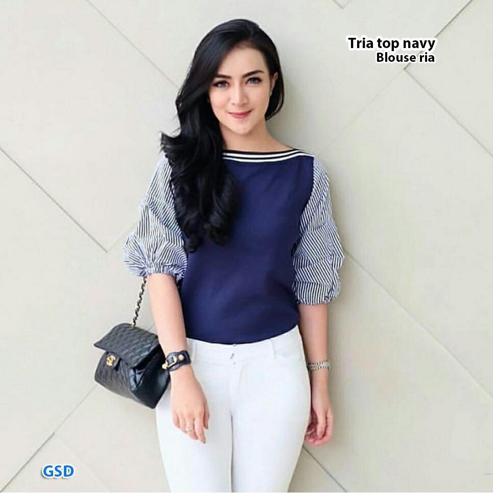 Berta (300gr) GSD - Baju Atasan / Baju Wanita / Baju Cewekl /Blus Casual Ria