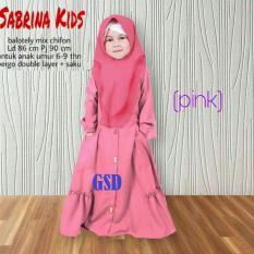 GSD-Baju Gamis Anak/Baju Muslim Anak/Baju Anak Cewek/Baju Anak/ Gamis Sabrina Kids