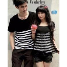 GSD - Baju Wanita / Kaos Cowok / Kaos Couple / Baju Pasangan Remaja - Cp Salur Love Black