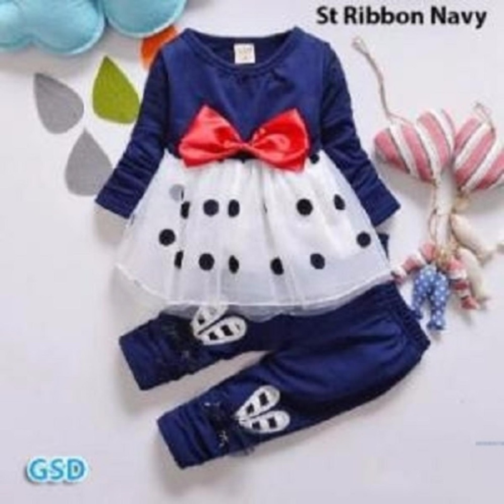 Berat (250gr) GSD - Baju Setelan Anak / St Onde Tile Kid - Navy
