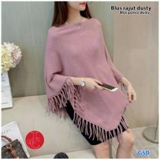 GSD -Baju Atasan / Baju Cewek / Blouse Wanita / Blus Cardi Rajut Ponco