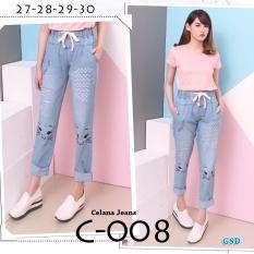 Jual Gsd Celana Panjang Celana Jeans Wanita Celana Jogger Celana Baggy C008 Satu Set