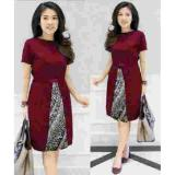 Gsd Dress Batik Baju Wanita Long Dress Dress Pesta Dress Winni Maroon Di Jawa Barat