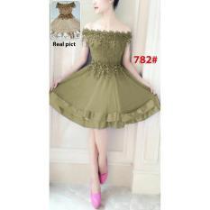 GSD- Dress Brukat / Baju Pesta / Gaun Pesta / Mini Dress Import 782