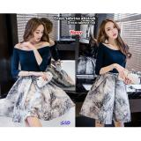 Diskon Gsd Dress Casual Wanita Dress Sabrina Fuji Navy Gsd