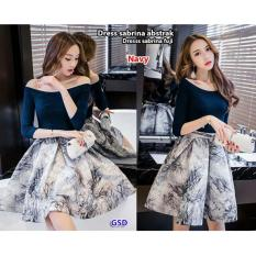 Harga Gsd Dress Casual Wanita Dress Sabrina Fuji Navy Yang Murah