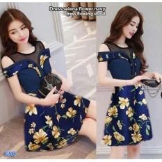GSD - Dress Pesta   Baju Wanita  Dress Casual   Mini Dress Flowing Shoul 8697ea845c