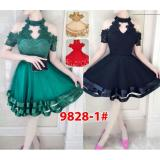 Beli Gsd Dress Pesta Asimetris Dress Brukat Import 9828 1 Red Online Terpercaya