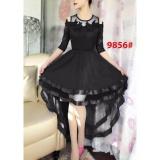 Toko Gsd Dress Pesta Asimetris Dress Brukat Import 9856 Black Termurah Di Dki Jakarta