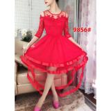 Jual Gsd Dress Pesta Asimetris Dress Brukat Import 9856 Red Ori