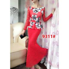Spesifikasi Gsd Long Dress Brukat 9311 Red Lengkap