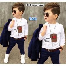 GSD- Setelan Baju Anak Laki-laki - Set 3in1