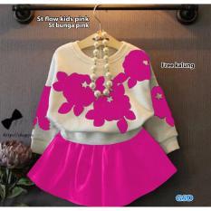 GSD - Setelan Baju dan Rok Anak / St Bunga Pink