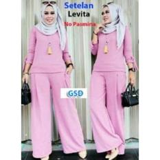 GSD- Fashion Baju Muslim  Wanita- Set Levi Pink