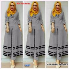 GSD - Baju Wanita / Baju Kurung / Dress Muslim / Maxi Dress / Setelan Celana Lena Grey