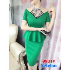 Diskon Produk Gsd Stelan Mini Dress Import Dress Pesta Dress Import 9931 Hijau