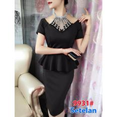 Jual Gsd Stelan Mini Dress Import Dress Pesta Dress Import 9931 Hitam Murah