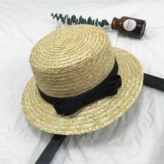 Gu Li Model Sama Datar Topi Pelindung Sinar Matahari Jerami Topi Jerami (Coulee Nazha Model Sama Tepi Datar Topi Jerami)