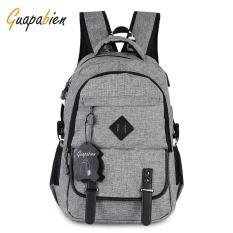 Spesifikasi Guapabien Preppy Style Kapasitas Besar Lubang Port Usb Ransel Multifungsi Untuk Pria Abu Abu Intl Online