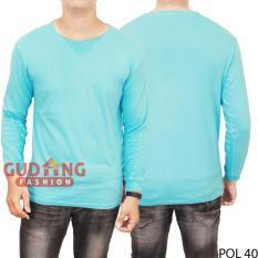 Gudang Fashion - Atasan Kaos Tshirt Panjang Pria - Biru Toska