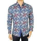 Harga Gudang Fashion Baju Batik Pria Lengan Panjang Biru Yang Murah Dan Bagus
