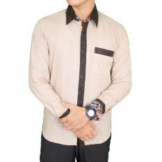Beli Gudang Fashion Baju Batik Semi Kasual Krem Gudang Fashion Online