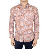 Harga Gudang Fashion Baju Kemeja Batik Slim Fit Panjang Modis Krem Gudang Fashion Online