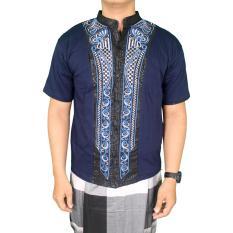 Harga Gudang Fashion Baju Kemeja Muslim Pria Modern Biru Navy Gudang Fashion Ori