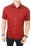 Review Toko Gudang Fashion Baju Kemeja Pria Merah Online