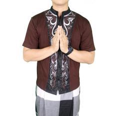 Gudang Fashion - Baju Koko Bordir Terbaru - Coklat