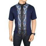 Spesifikasi Gudang Fashion Baju Koko Dewasa Biru Dongker Online