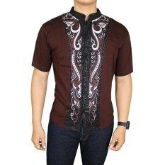 Jual Gudang Fashion Baju Koko Elegan Coklat Tua Gudang Fashion