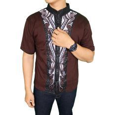 Promo Gudang Fashion Baju Koko Gaul Lengan Pendek Coklat Tua Banten