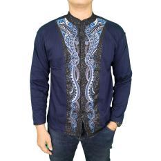 Promo Gudang Fashion Baju Koko Lebaran Muslim Biru Dongker Gudang Fashion