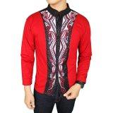 Toko Gudang Fashion Baju Koko Lengan Panjang Fashion Merah Termurah
