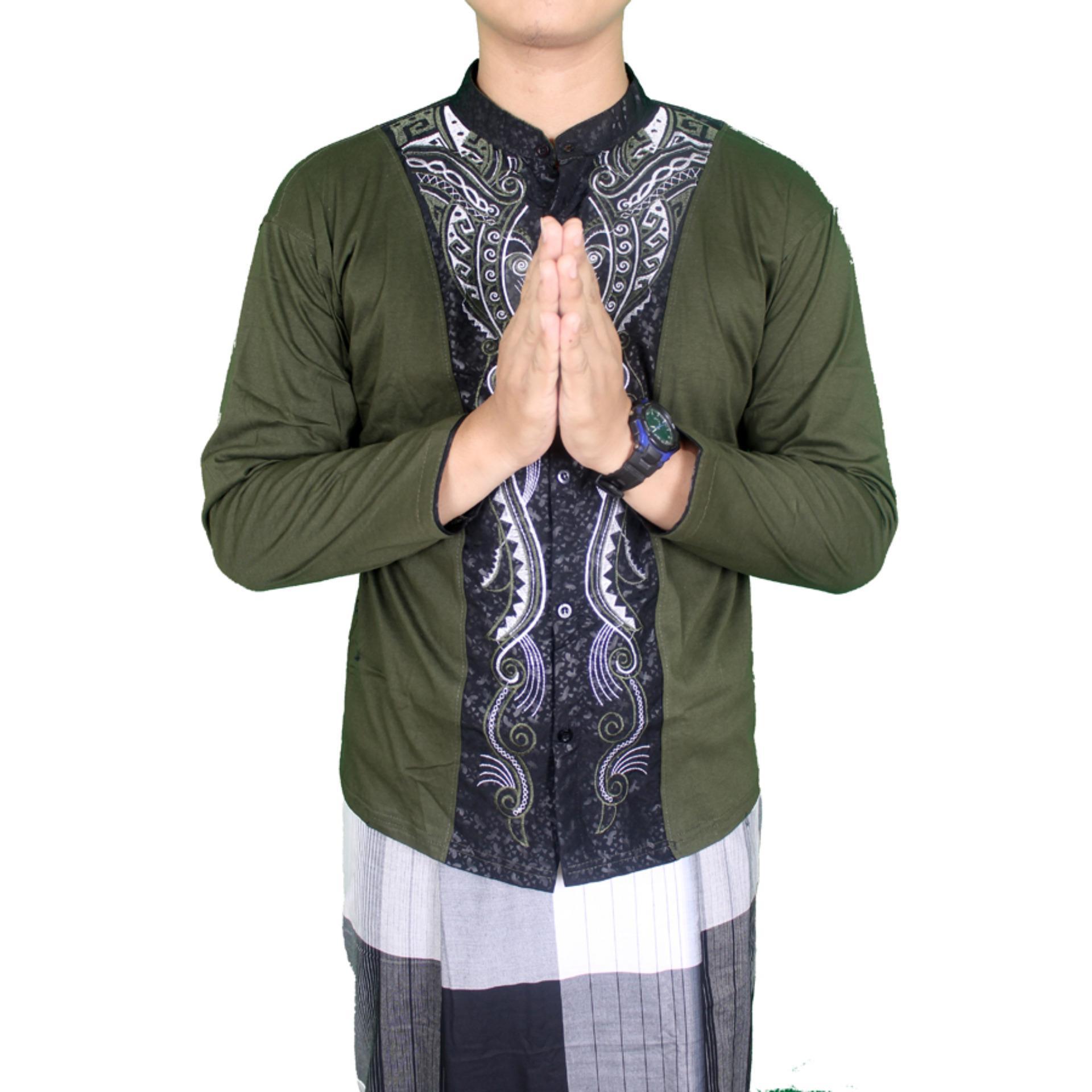 ... Gudang Fashion - Baju Koko Lengan Panjang Pria - Hijau