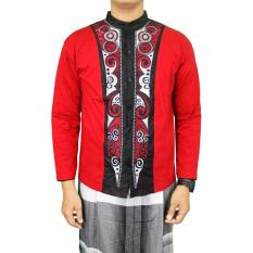 Jual Gudang Fashion Baju Koko Lengan Panjang Terbaru Merah Murah Indonesia