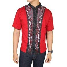 Gudang Fashion - Baju Koko Lengan Pendek Terbaru - Merah