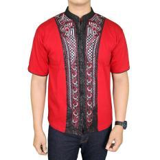 Spesifikasi Gudang Fashion Baju Koko Muslim Terbaru Merah Yang Bagus