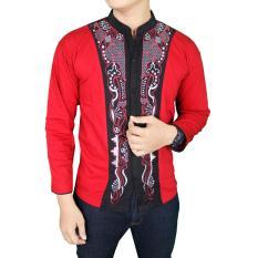 Gudang Fashion - Baju Koko Pria Muslim Lengan Panjang - Merah
