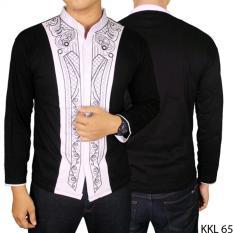 Spesifikasi Gudang Fashion Baju Koko Putih Hitam Lengan Panjang Hitam Gudang Fashion Terbaru