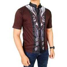 Spesifikasi Gudang Fashion Baju Koko Sholat Pria Coklat Tua Terbaik