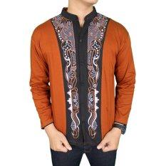 Review Toko Gudang Fashion Baju Koko Terbaru Lengan Panjang Coklat Muda Online