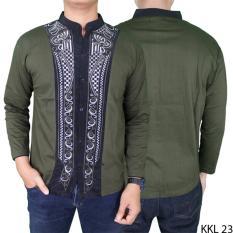 Gudang Fashion - Baju Koko Terbaru Lengan Panjang - Hijau Lumut