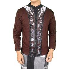 Harga Gudang Fashion Baju Lebaran Idul Fitri Pria Coklat Online Jawa Barat