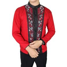 Beli Gudang Fashion Baju Lebaran Pria Muslim Merah Kredit Banten